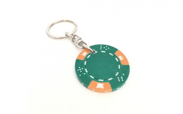 Μπρελόκ Μάρκες Πόκερ Crown & Dice Πράσινη