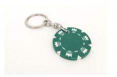 Μπρελόκ Μάρκες Πόκερ Crowns Πράσινη