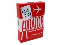 Τράπουλα Aviator Jumbo Κόκκινη