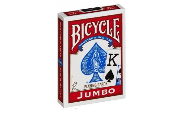 Τράπουλα Bicycle Rider Back Jumbo Κόκκινη
