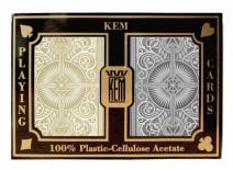 Τράπουλα KEM Arrow Jumbo Χρυσή/Μάυρη