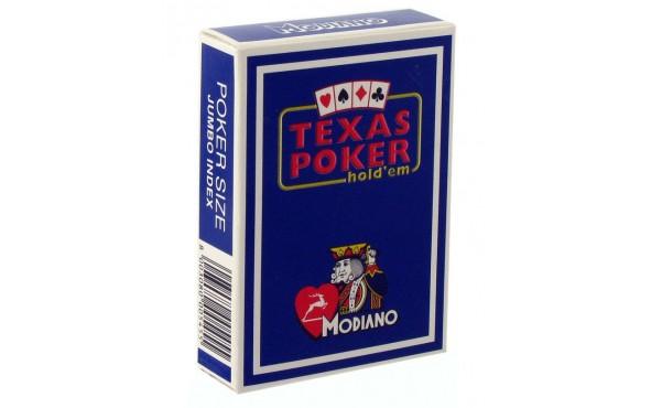 Τράπουλα Modiano Texas Poker Jumbo Μπλε