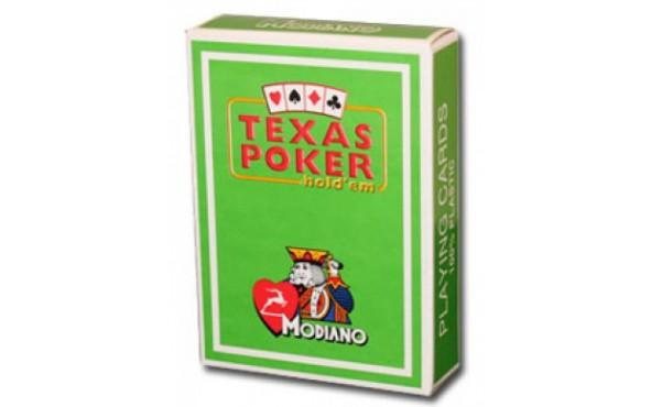Τράπουλα Modiano Texas Poker Jumbo Πράσινη