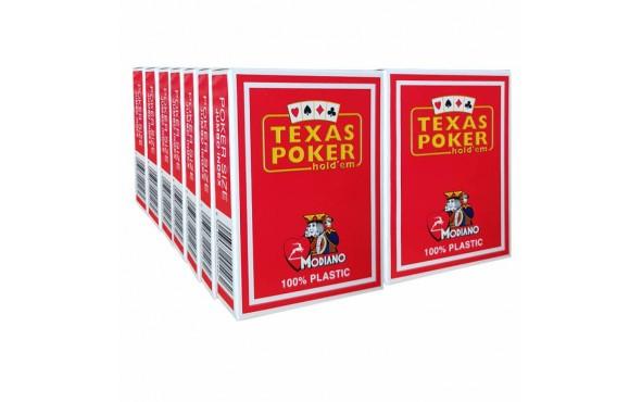 14 Τράπουλες Modiano Texas Poker Jumbo Κόκκινη