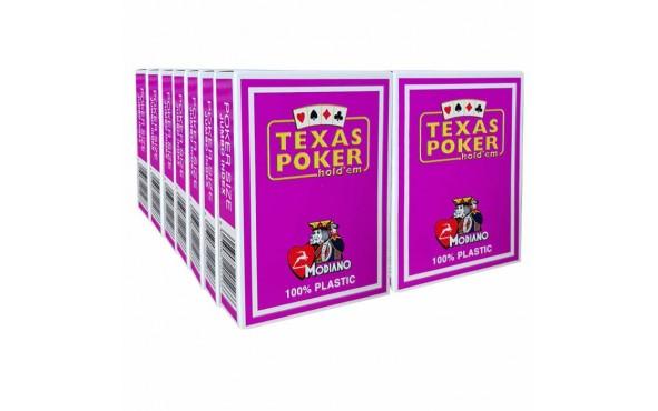 14 Τράπουλες Modiano Texas Poker Jumbo Μοβ