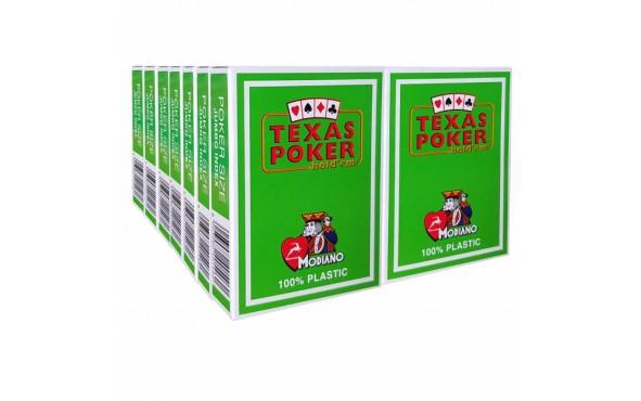 14 Τράπουλες Modiano Texas Poker Jumbo Πράσινη