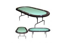 Τραπέζι Πόκερ Οβάλ 220cm Πράσινο