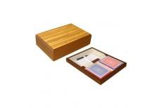 Κουτί ξύλινο 2 τράπουλες