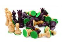 Πίονια για Σκάκι Πλαστικά με Τσόχα 72mm