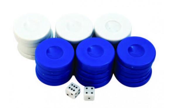Πούλια για Τάβλι Μπλε/Λευκά 36mm