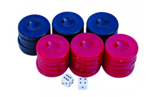 Πούλια για Τάβλι Σκούρο Μπλε/Κόκκινα 36mm