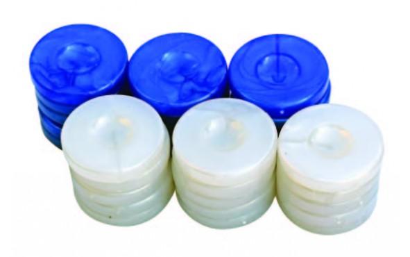 Πούλια για Τάβλι Τύπου Φίλντισι Μπλε/Λευκά 36mm