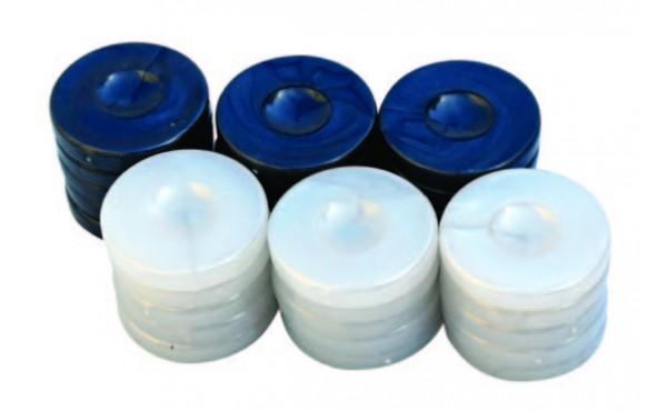 Πούλια για Τάβλι Τύπου Φίλντισι Μαύρα/Λευκά 36mm