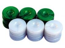 Πούλια για Τάβλι Τύπου Φίλντισι Πράσινα/Λευκά