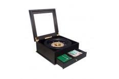 Σετ Ρουλέτα 36cm Μαύρη σε Ξύλινο Κουτί
