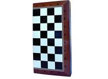 Τάβλι - Σκάκι Τυπωμένο Τύπου Μαόνι