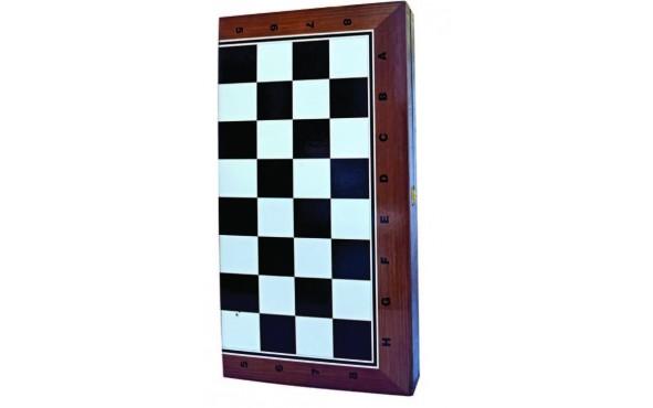 Τάβλι - Σκάκι Τυπωμένο Τύπου Μαόνι 47x25cm