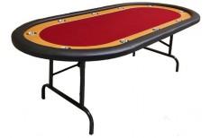 Tραπέζι Ποκερ Reno 212cm Κόκκινο