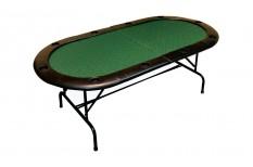 Τραπέζι Πόκερ Οβάλ 213cm Πράσινο