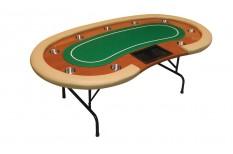 Tραπέζι Πόκερ Atlantic City Dealer 213cm Green