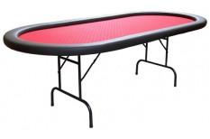 Τραπέζι Πόκερ Οβάλ 233cm Κόκκινο