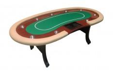 Tραπέζι Πόκερ Atlantic City Dealer Luxe 240cm Green