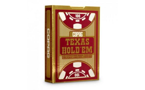 Τράπουλα Copag Texas Jumbo Κόκκινη