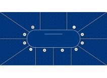 Τσόχα Texas Poker 10 Παίχτές 300x145 Μπλε