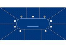 Τσόχα Texas Poker 9 Παίχτές 300x145 Μπλε