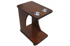 Ξύλινο Βοηθητικό τραπέζι με δυο ποτηροθήκες
