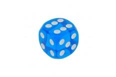 Ζάρι 18mm Διαφανές Μπλε